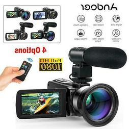 Andoer FHD 1080P 24MP 16X Digital Video Camera Camcorder Nig