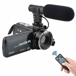 FHD 1080P 3.0 External Microphone Video Camera Camcorder Dig