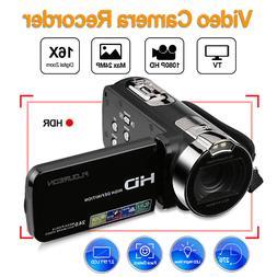 FHD 1080P Portable Digital Video Camera 24MP 16x Zoom Camcor