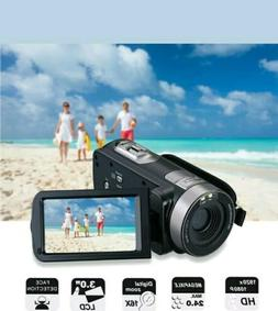 FHD Camcorder Night Vision 1080p Remote Control, Infrared Ca