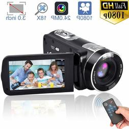 FHD Camcorder Night Vision 1080p Remote Control Infrared Cam