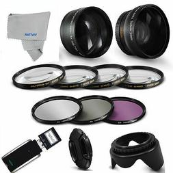 FISHEYE LENS + TELEPHOTO ZOOM LENS + PRO KIT FOR CANON VIXIA
