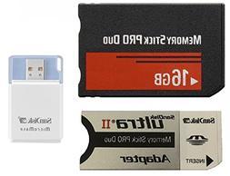 16 GB Memory Stick PRO Duo Flash Memory Card FVMSPD-016G Plu