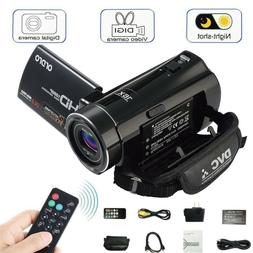 Vlogging Video Camera Camcorder 1080PHD  Digital Night Visio