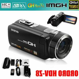 "FULL HD 1080P 24MP 3"" LCD 8xZOOM Digital Video DV Camera Cam"