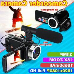 Full HD 1080P 24MP 3'' LCD Digital Camcorder Video Camera 18