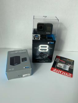 Go Pro Hero 8 Black Action Camera Bundle 2 Batteries, SD Car