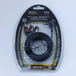 Gold Plated 6ft Camcorder Cable 3.5mm 4 Sec 4C V/A Stereo Pl