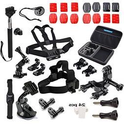 GoPro Accessories, VANDESAIL 45 in 1 Essential Bundle Kits w