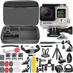 GoPro HERO 4 Silver Edition Camera Camcorder + 50 Piece Hero