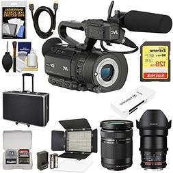 JVC GY-LS300CHU Ultra 4K HD 4KCAM Super 35 Pro Camcorder & M