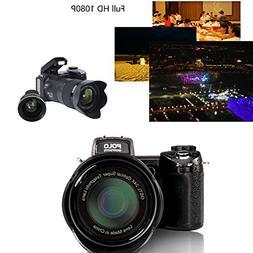 Hanbaili Digital Camera, 33 Million Pixels Auto Focus POLO P