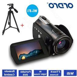 "Handheld ORDRO D395 Wifi 3.0"" Digital Video Camera IR Night"