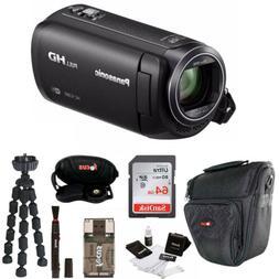 Panasonic HC-V380K Full HD 1080p Camcorder w/  Sony 64GB Acc