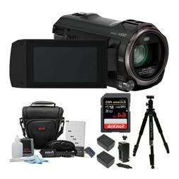 Panasonic HC-V770 HD Camcorder w/SanDisk 64GB SD Card & Li-i