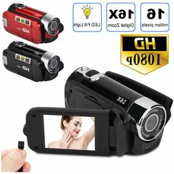 """HD 1080P 2.7"""" LCD Camcorder 16MP 16X Zoom Digital Video Came"""