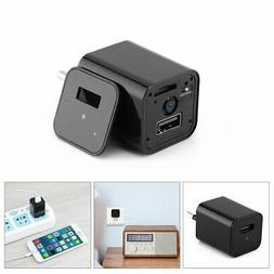 HD 1080P Hidden Camera USB Wall Charger Wireless Home Securi