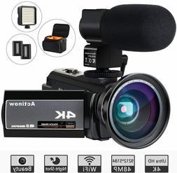 HD Digital 4K Camcorder 16X Zoom WiFi 48 MP Video Camera Nig