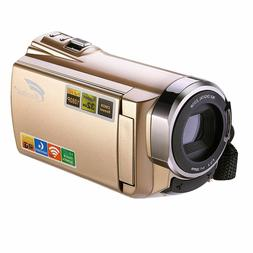HAUSBELL HD Digital CAMCORDER HDV-5052STR Gold-WIFI- Infrare