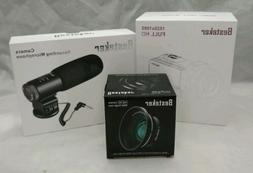 Besteker HD HDV-301STR Video Camcorder, Lens and Microphone