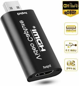 HDMI to USB 2.0 Video Capture Card 4K to 1080p 30fps Video R