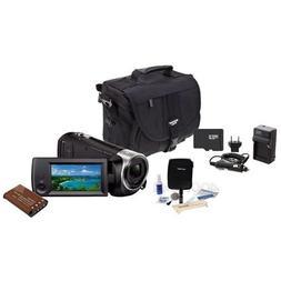 Sony HDR-CX405 Full HD 60p Camcorder, 2.3MP Sensor - Bundle