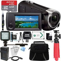 Sony HDR-CX440 Full HD 60p Camcorder + 32GB MicroSD Accessor