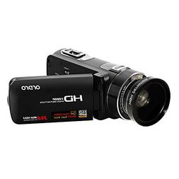ORDRO HDV-Z80 Full HD 1080P Camcorder Max 24.0MP with 10X Op