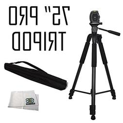 "75"" Professional Heavy Duty 3-Way Pan Head Tripod For Panaso"