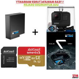 GoPro Hero 7 Black Action Camera + GoPro Battery + Sandisk 3