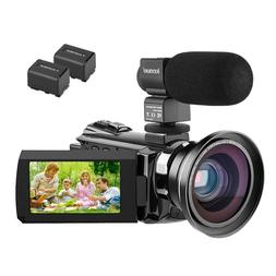 HF6 Kenuo 4K Camcorder,48MP Portable Ultra-HD30FPS WiFi Digi