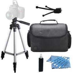 "Professional 50"" Inch Tripod with Deluxe Camcorder Video C"