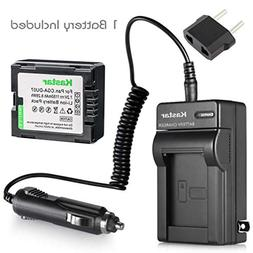 Kastar NEW Battery+Charger for Hitachi DVD Camcorder DZ-BX35