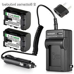 Kastar BN-VG114 Battery  and Charger Kit for JVC BN-VG107 BN