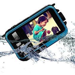 KINGEAR KG0008 Double Screens Waterproof Digital Camera 2.7-