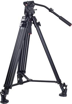 Kingjoy Professional Video Tripod, Heavy Duty Tripod System