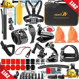 Kitway 65-in-1 Action Camera Accessories Kit for Akaso EK700