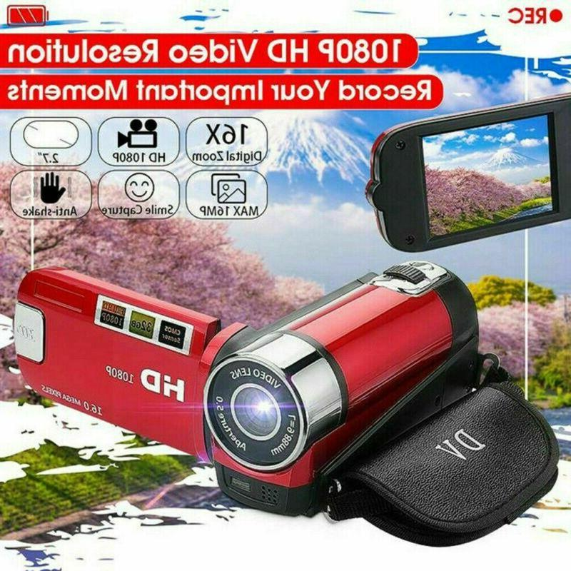 Camcorder Digital 1080P 24MP 16x AV