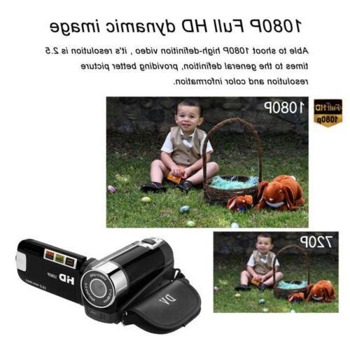 1080P Camcorder Digital Video Camera 24MP AV Night Vision