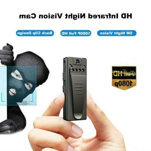 1080P HD Video IR Night Cam Motion Mini Police Body