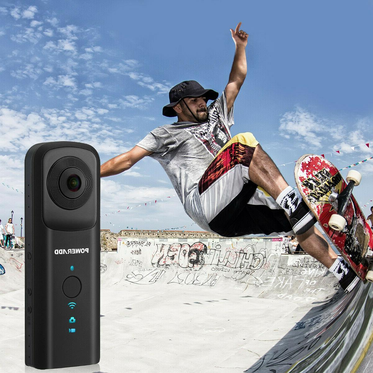 360° VR Camera WiFi Dual Camcorder