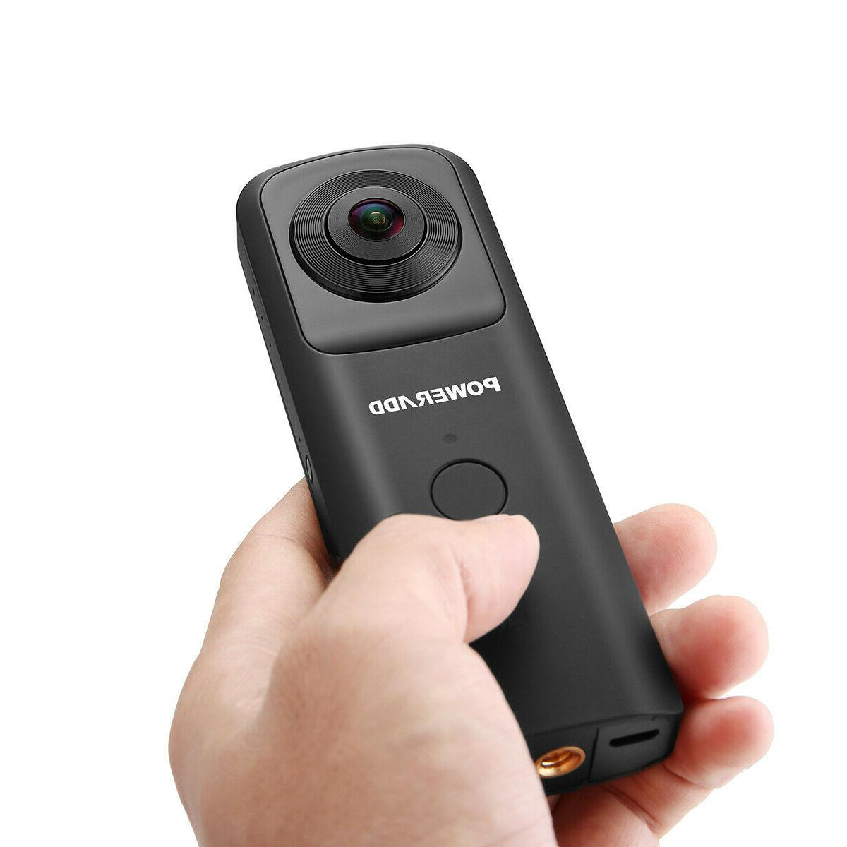 360° VR HD WiFi Video Dual Camcorder