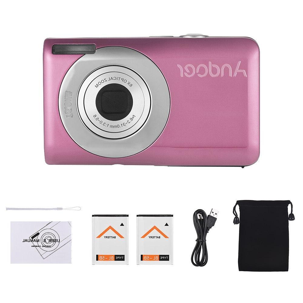 2018 LCD Screen Video Camera 16MP 720P HD Digital 8X <font><b>Optical</b></font> <font><b>Camcorder</b></font>