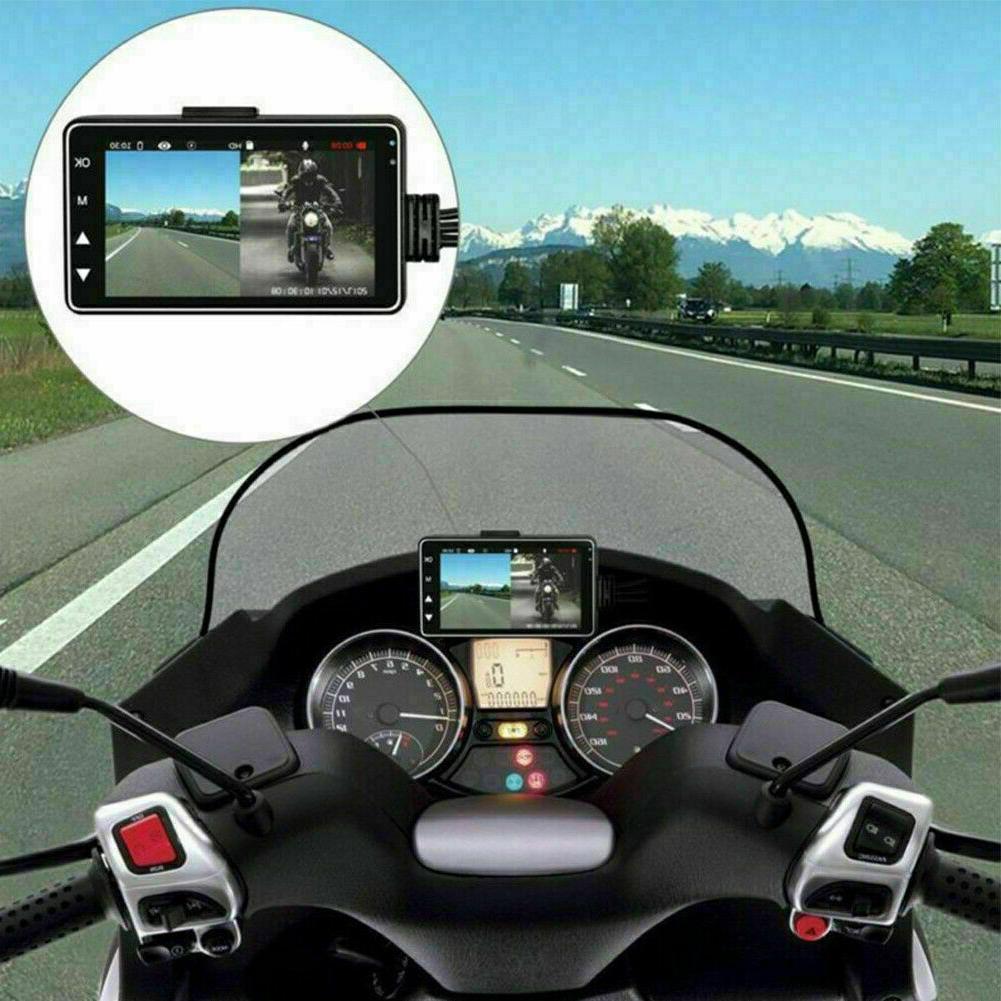 """3"""" 1080P Dual Lens Motorcycle Camera Dash G-SENSOR"""