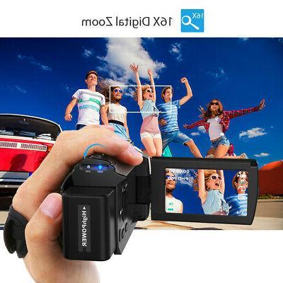Digital Video Camcorder DV WiFi ULTRA HD 48MP 1080P+ Lens
