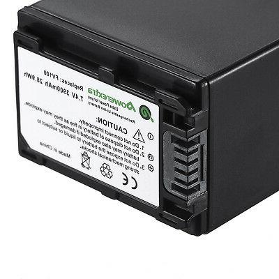 3900mAh Decoded Extended Battery For SONY HDR-CX200 HDR-CX21