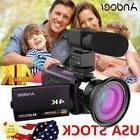 Andoer 4K 1080P 48MP 16X Zoom WiFi Digital Video Camera Camc