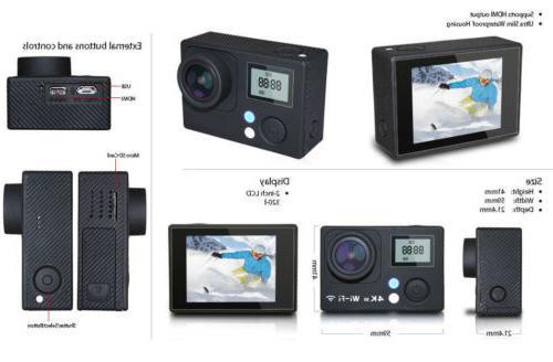 4K Camera Dual Screen Ultra Camcorder Accessory Bundle