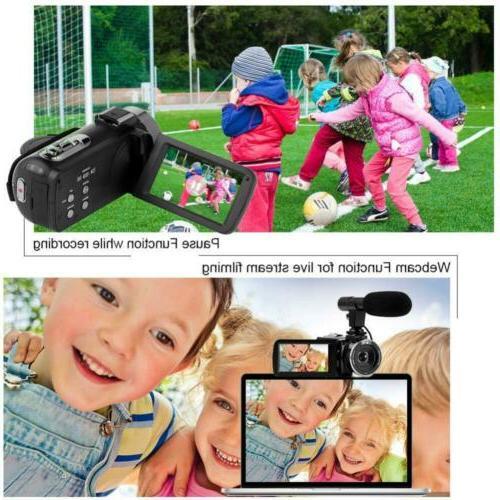 SEREE 4K Camcorder Camera WiFi Vision 16x Youtube