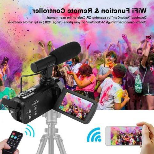 SEREE 4K Camera w/ Microphone WiFi Night Youtube